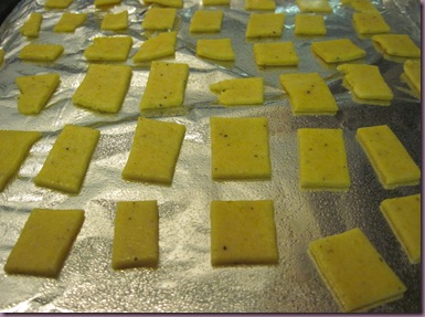 Cheese Crackers Pre-Cook